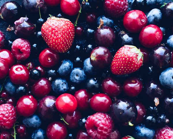 Mixed summer berries used to make fruit wines at Lyme Bay Winery